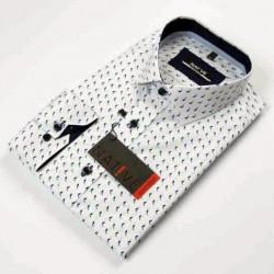 Biela pánska košeľa dlhý rukáv vypasovaný strih Native 120001
