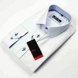 Biela pánska košeľa nadmer dlhý rukáv rovný strih Native 1205/04