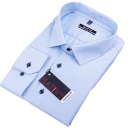 Modrá pánska košeľa nadmer dlhý rukáv rovný strih Native 1205/03
