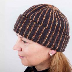 Hnedá dámska elegantná čiapka TONAK 87310