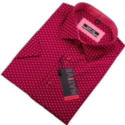Červená pánska košeľa s krátkym rukávom Native 120303