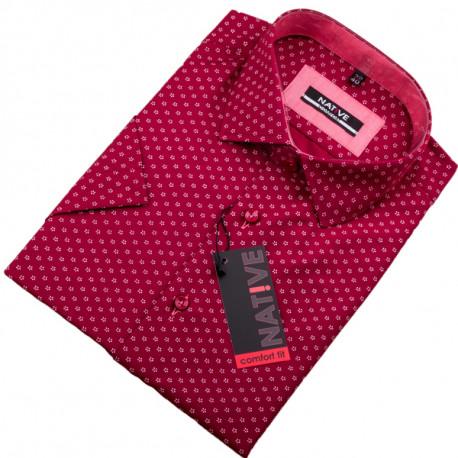 c71e42dde1e4 Červená pánska košeľa s krátkym rukávom Native 120303