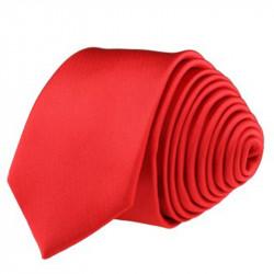 Červená kravata slim fit Romendik 99131