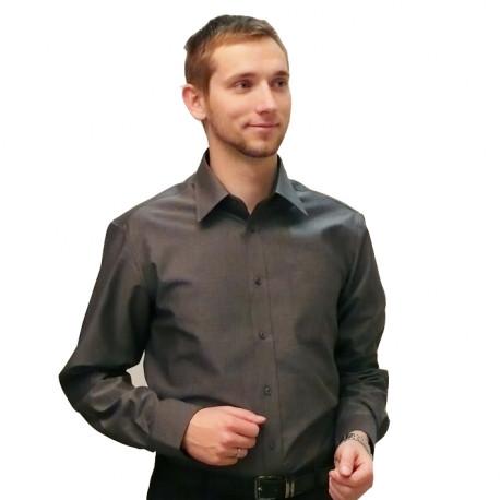 Sivá pánska košeľa 100% bavlna slim fit Assante 30103