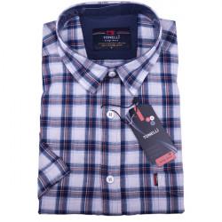 Modrá pánska košeľa 100% bavlna Tonelli 110812