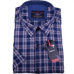 Modrá pánska košeľa 100% bavlna Tonelli 110816