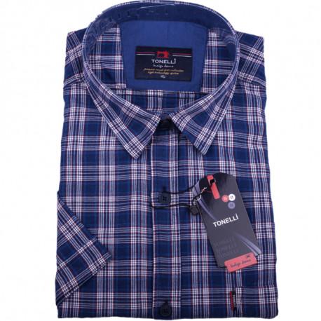fe6f9a41f Modrá pánska košeľa 100% bavlna Tonelli 110816