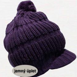 Fialová pletená čiapka zimná Pletex 88062