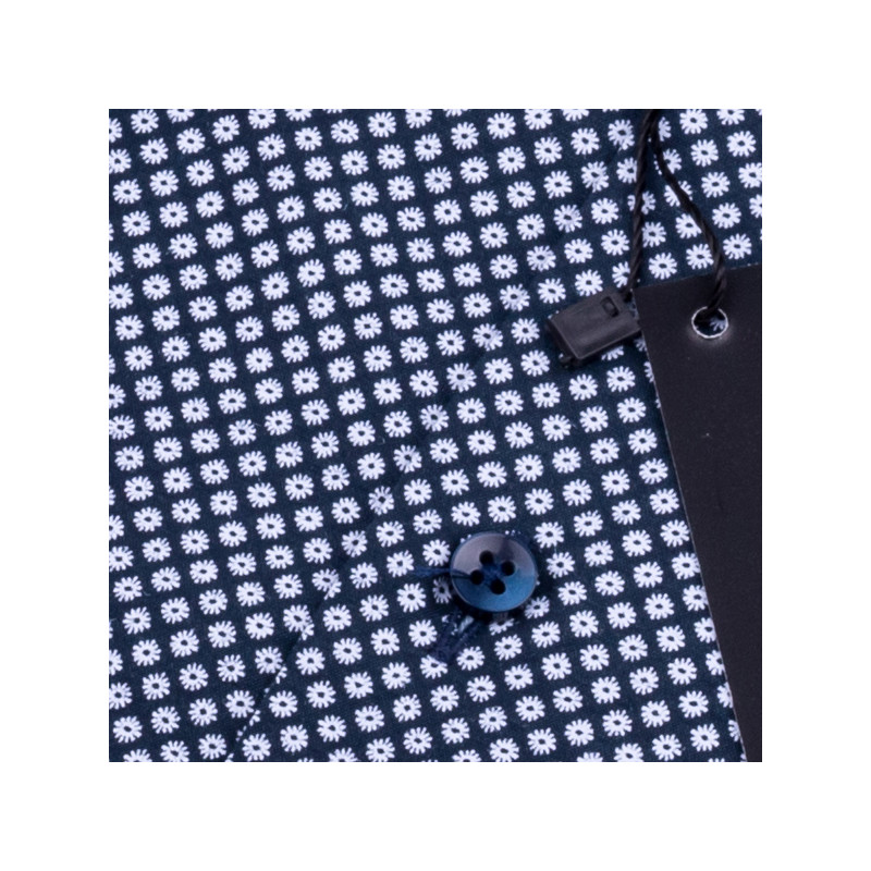 5c4c591fa68e Modrá pánska košeľa s krátkym rukávom slim Native 120314