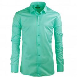 Pistáciová pánska košeľa s dlhým rukávom slim Native 30502