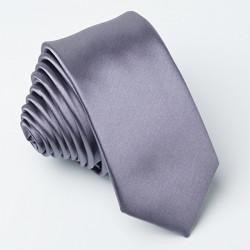 Kravata tmavá šedá úzka
