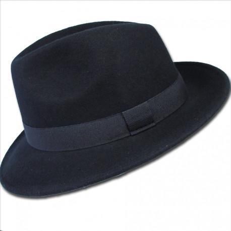 Čierny pánsky klobúk voděodoný Assante 85006