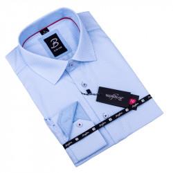 Sivobiela pánska košeľa slim fit Brighton 109904