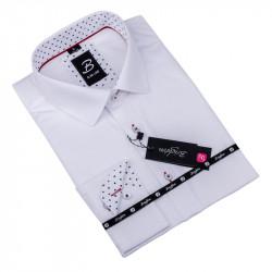 Biela pánska košeľa slim fit Brighton 109907