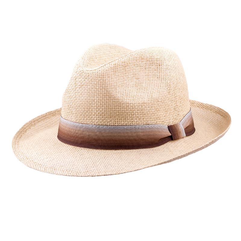 12cf7bdfa642 Béžový pánsky letný klobúk Assante 80004