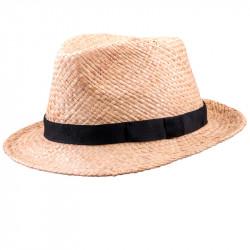 Béžový pánsky slamený klobúk Assante 80005