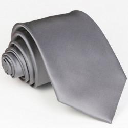 Sivá kravata jednofarebná Rene Chagal99924