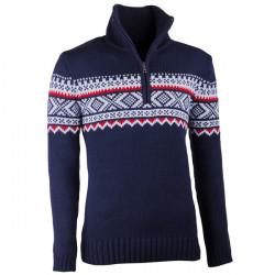 Modrý pánsky sveter nórsky vzor Assante 51022