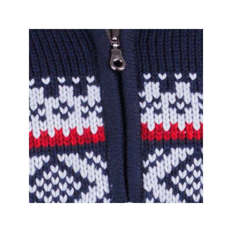 1ff1c4913c51 Modrý pánsky sveter nórsky vzor Assante 51022