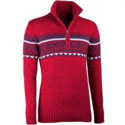 Červený pánsky sveter nórsky vzor Assante 51023