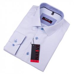 Modrá pánska košeľa vypasovaný strih Native 120010