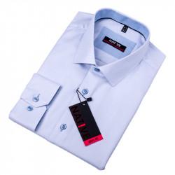 Modrá pánska košeľa vypasovaný strih Native 120012