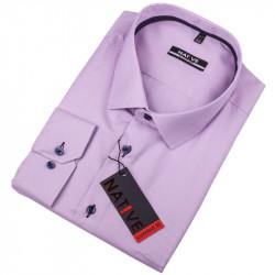 Nadmerná pánska košeľa fialová Native 120513