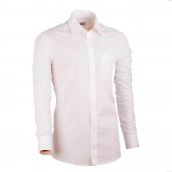 Predĺžená pánska košeľa slim fit šampaň Assante 20208