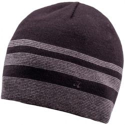 Šedočierna pletená pánska čiapka Assante 86005