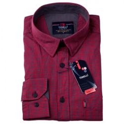 Červenomodrá košeľa 100% bavlna Tonelli 110956