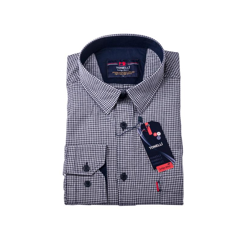 0270f895f8af Čiernobiela košeľa 100% bavlna Tonelli 110957