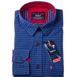 Modročervenobílá košeľa 100% bavlna Tonelli 110960