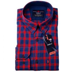 Červenomodrá káro košeľa 100% bavlna Tonelli 110967