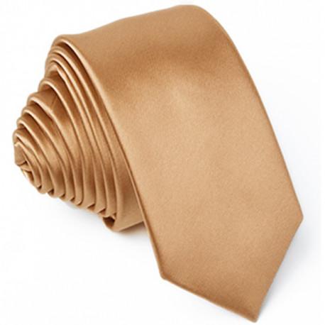 Slim fit hnedá kravata Arturo Gottini 99122