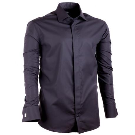 Čierna pánska košeľa Assante rovná 30150