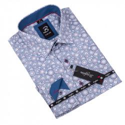 Vzorovaná košeľa Brighton bielomodrá 109916