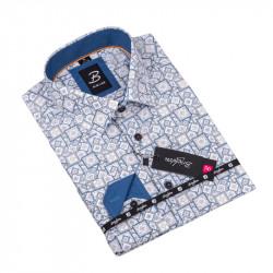 Vzorovaná košeľa Brighton bielomodrá 109917