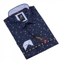 Vzorovaná košeľa Brighton tmavo modrá 109918