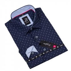 Vzorovaná košeľa Brighton tmavo modrá 109919