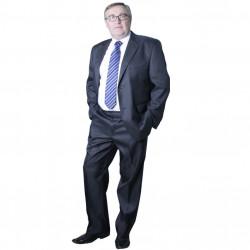 Sivý pánsky oblek spoločenský na výšku 176 - 182 cm Galant 160633