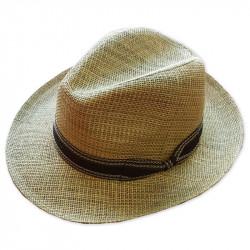 Slamený klobúk béžovy Assante 80006