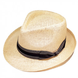 Slamený klobúk béžovy Assante 80007
