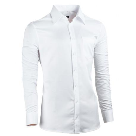 Biela pánska košeľa Assante vypasovaná 30017