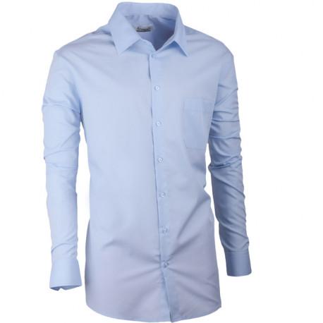 Modrá pánska košeľa s dlhým rukávom slim fit Aramgad 30480