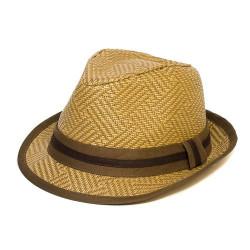 Letný klobúk farba hnedá Assante 161236