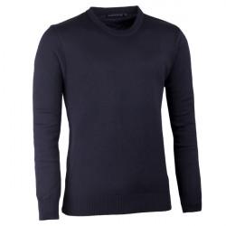Čierny pánsky sveter ku krku Assante 51017