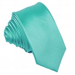 Tyrkysová svadobná kravata slim Greg 99191