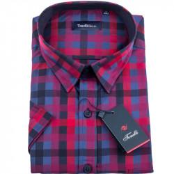 Červenomodrá kockovaná košeľa Tonelli 110830