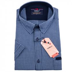 Modročervená kockovaná košeľa Tonelli 110831