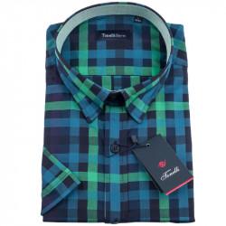 Modrozelená košele Tonelli 110837
